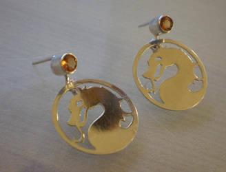 Mortal kombat earrings by bionic-dingo