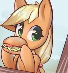 Hayburger by mirroredsea