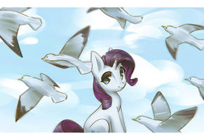 A Flock of Seagulls by mirroredsea