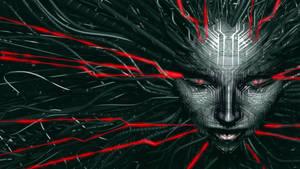 Shodan - red/grey (System Shock) by JaxxTraxx