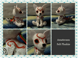 Handmade Amaterasu Felt Plushie by whitecorgi