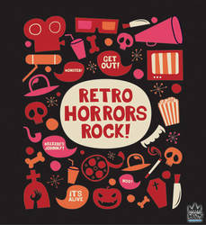 Retro Horrors Rock Design by cosmicsoda