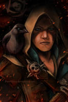 Edward Kenway and the Jackdaw by PureMissa
