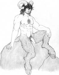 Emmet the satyr by ChiefHunter