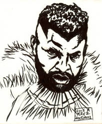 M'Baku - Daily Drawing 2018 QUICKIE! by luisperezart