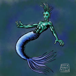 1. Mermaid - Folklore and Fairy Tales Challenge by luisperezart