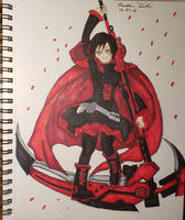 RWBY-Ruby Rose (Ink) by FrostKiller605