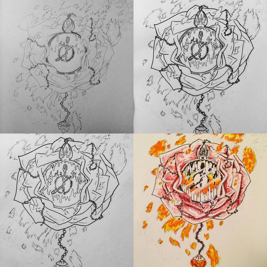 Rose Clock Tattoo Design By Howlbaka On Deviantart