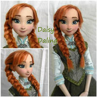 Disney's Frozen Princess Anna Ooak Doll Repaint by DaisyDaling