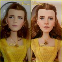 Disney's BatB Belle Emma Watson Ooak Doll Repaint by DaisyDaling