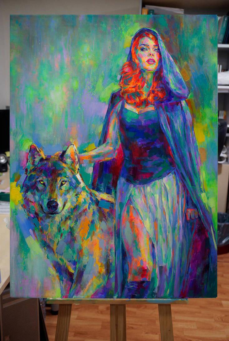 Blue Riding Hood by MartaNael