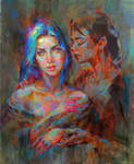 Mother and daughter by MartaNael