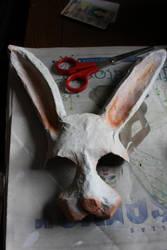 White Rabbit Mask by Seratoninsolace