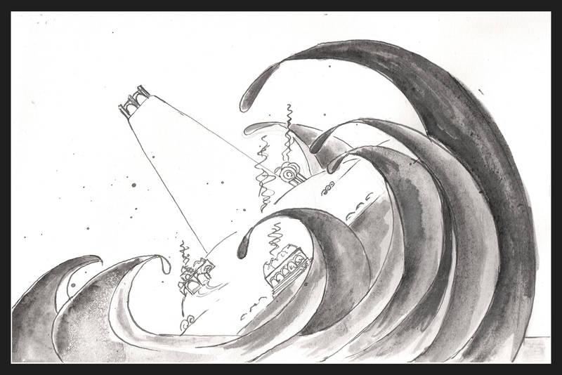 Of Numenor sinking by dieroteiris