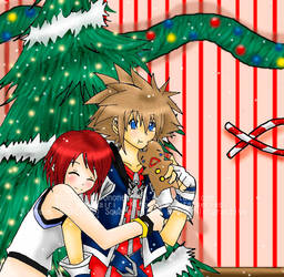 Sora x Kairi - Happy Christmas by shirononekojin