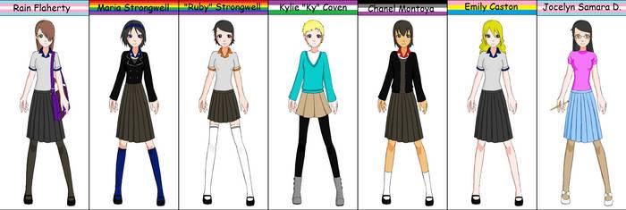Rain Female Cast Schoolgirl Maker by Zorua076