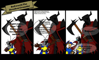 BoZworth the Drunken Crusader by Magic-Neil