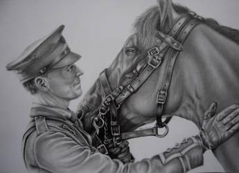 Capt. Nicholls (War Horse) by KateFrankienaBeck