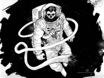 Spaceman Pinup by cbernhardt