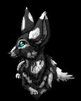 Black and White Fox Kit by xX-NIGHTBANEWOLF-Xx