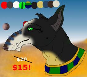 Discounted Headshot Design Sale:Egyptianish Canine by xX-NIGHTBANEWOLF-Xx