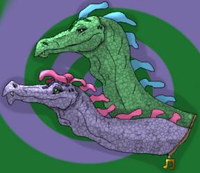 Dragon Tales Zak and Wheezie by xX-NIGHTBANEWOLF-Xx