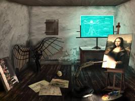 Da Vinci's sci-fi workshop by pavoldvorsky