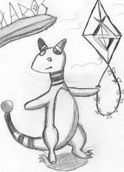 Ampharos Likes her Kite by Yoshifan1993