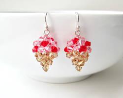 Strawberry Ice Cream Earrings by SparkleMeHappy