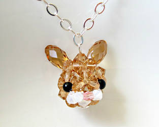 Brown Bunny Rabbit Necklace by SparkleMeHappy