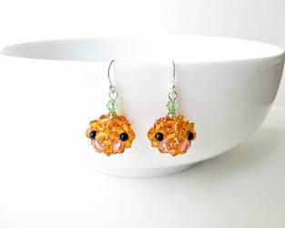 Kawaii Pumpkin Earrings by SparkleMeHappy