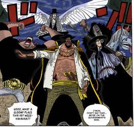 The Blackbeard Pirates colored by SpoonyBardOL