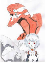 Eva 02 an Rei by DrawsTillIdie