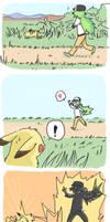 Pikachu and N by jojostory