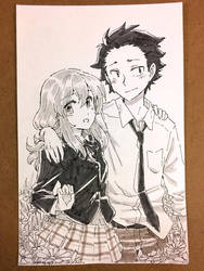 Koe no Katachi Commission by jojostory