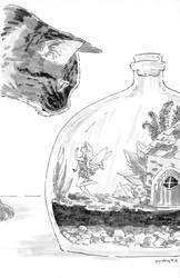Inktober 2018 - Day 18 - Bottle by jojostory
