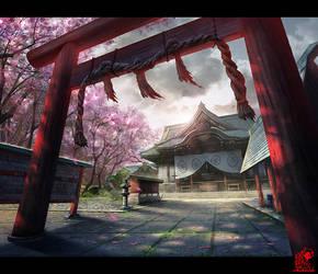 shrine by zhaoenzhe