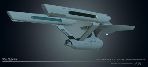 USS Excalibur NCC 1705 WIP 022 by LordSarvain