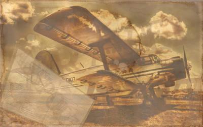 Vintage Aircraft Postcard by rah87
