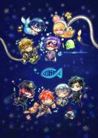 Free! ~ Future Fish (plastic folder back) by Evil-usagi