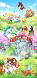Studio Ghibli Bookmark by Evil-usagi