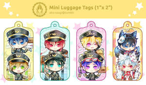Mini Luggage tags (free + gintama) by Evil-usagi