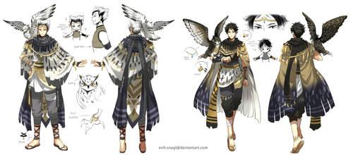 HQ - (bokuto + akaashi) Arabian clothing by Evil-usagi