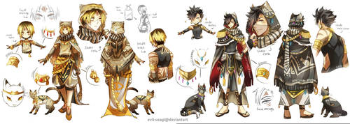 HQ - (Kuroo + Kenma) Arabian clothing by Evil-usagi