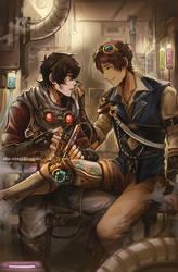 Klance Steampunk au by Evil-usagi