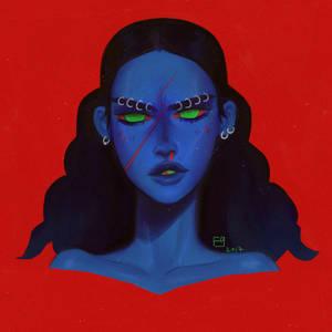 Blue Girl by fid999et
