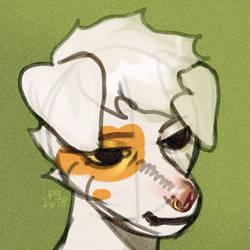 sketchy doggo by fid999et