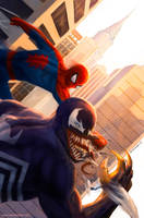 Spider-Man vs Venom by SebastianDrewniok