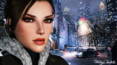 Lara_Croft_Christmas by ivedada
