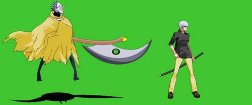 Kaze and Enkidu Persona OC by BradaoOfCartha